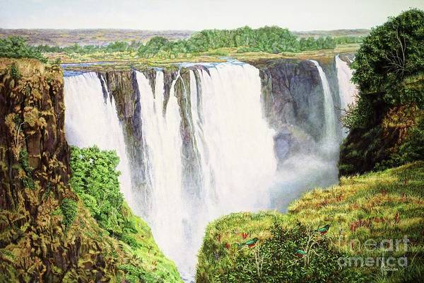 Victoria Falls Painting - Water Power-vict. Falls-part Two by Paul Henderson