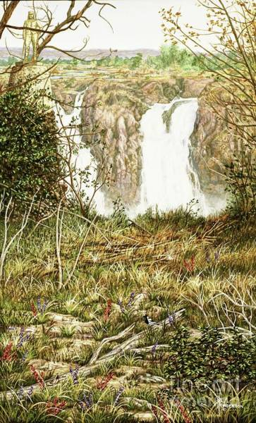 Victoria Falls Painting - Water Power-victoria Falls-part Three by Paul Henderson