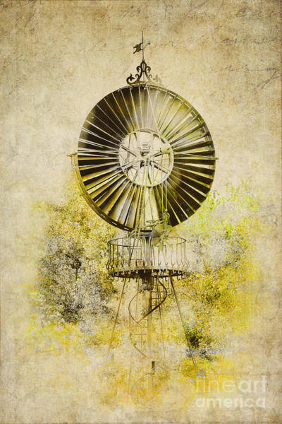 Photograph - Water-pumping Windmill by Heiko Koehrer-Wagner