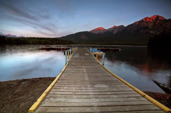 Park Bench Digital Art - Water Reflections At Pyramid Lake by Mark Duffy