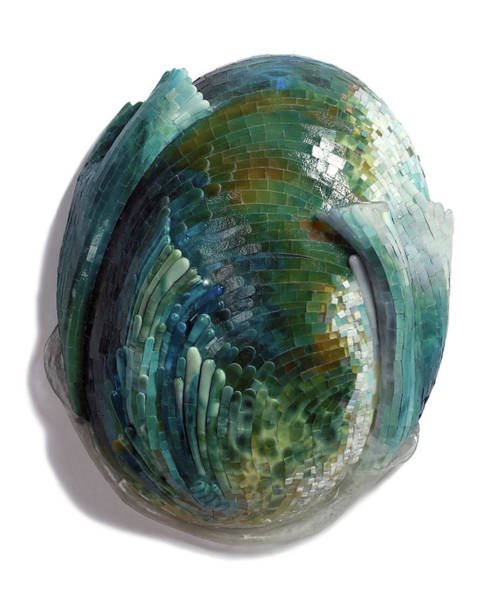Stained Glass Wall Art - Glass Art - Water Ring II by Mia Tavonatti
