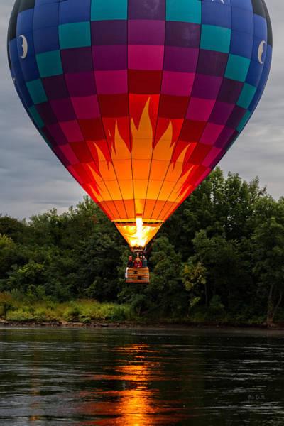 Photograph - Water Scraping Hot Air Balloons by Bob Orsillo