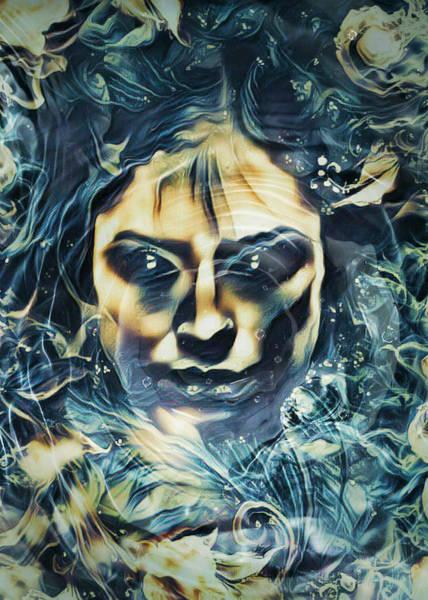 Sultry Digital Art - Water Siren 1 by Rhonda Barrett