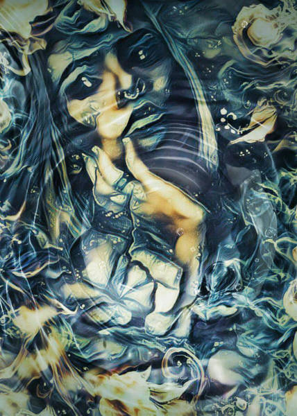 Sultry Digital Art - Water Sirens 2 by Rhonda Barrett