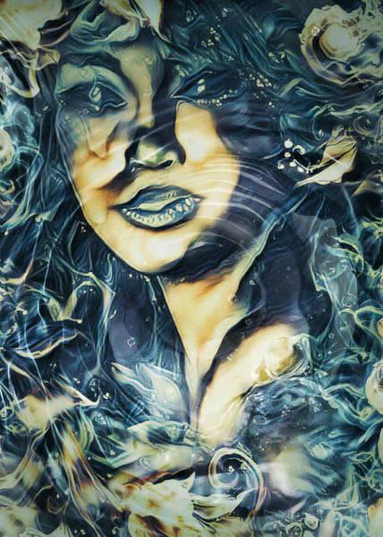 Sultry Digital Art - Water Sirens 4 by Rhonda Barrett
