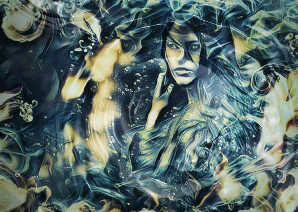 Sultry Digital Art - Water Sirens 5 by Rhonda Barrett