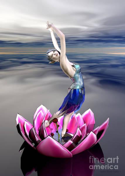 Water Sprite Art Print by Sandra Bauser Digital Art