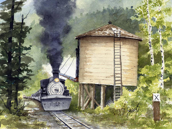 Painting - Water Stop by Sam Sidders