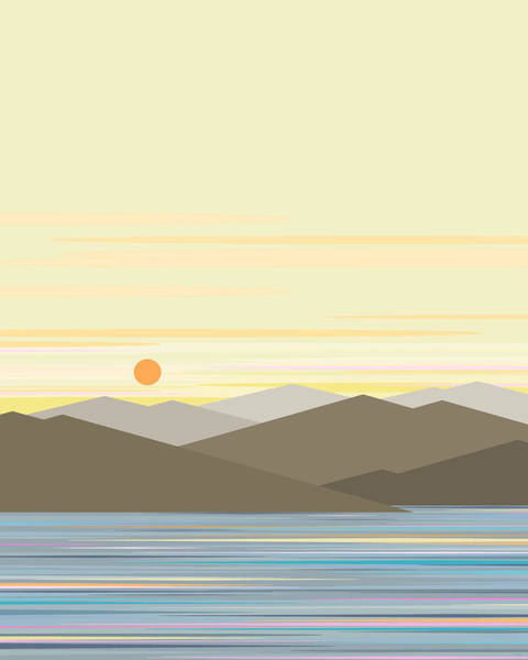 Digital Art - Water Sun And Sky by Val Arie
