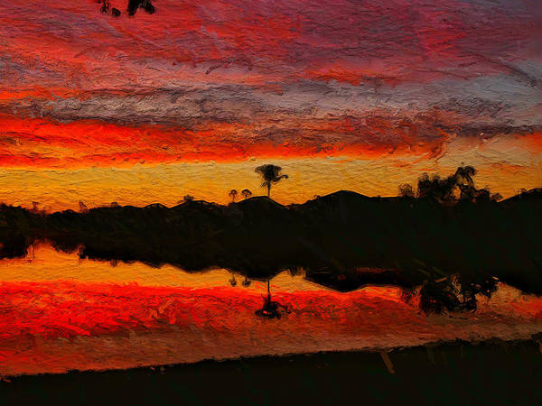 Red Wall Art - Photograph - Winter Sunrise I by Kathi Isserman