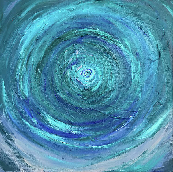 Painting - Water Swirl by Annette Hadley
