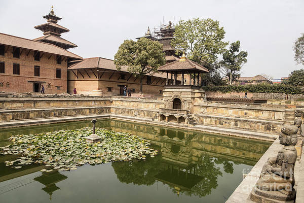 Photograph - Water Tank In A Palace Garden In The Famous Patan Durbar Square by Didier Marti