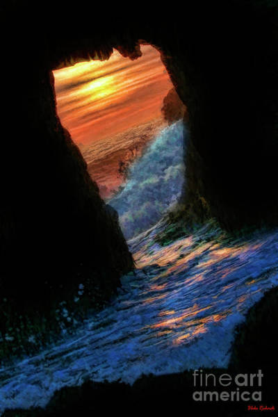 Photograph - Water Though Keyhole Arch At Pfeiffer Beach by Blake Richards