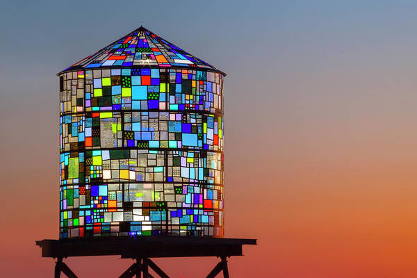 Stained Glass Wall Art - Photograph - Water Tower by Lorrie Joaus
