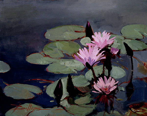 Painting - Water Trio - Water Lilies by Betty Jean Billups