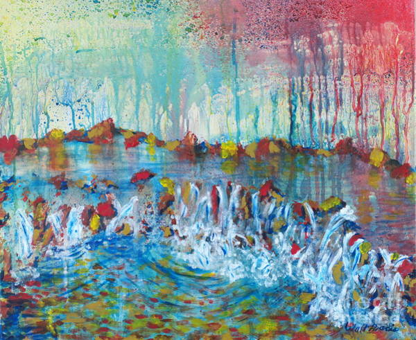 Painting - Water Wall by Walt Brodis