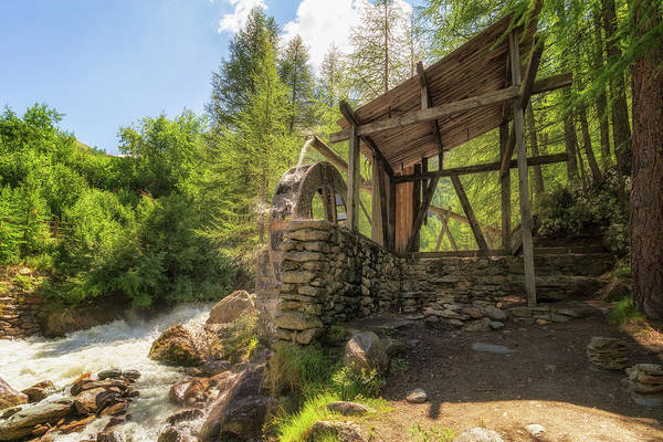 Photograph - Water Wheel by James Billings