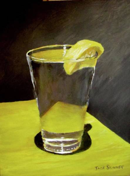 Wall Art - Painting - Water With A Lemon...please by Jack Skinner