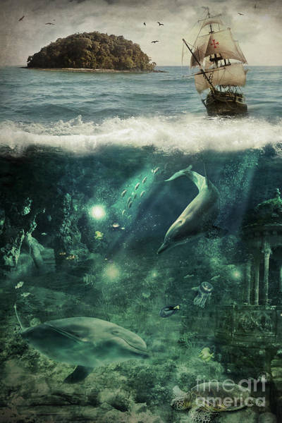 Wall Art - Digital Art - Water World by Donika Nikova