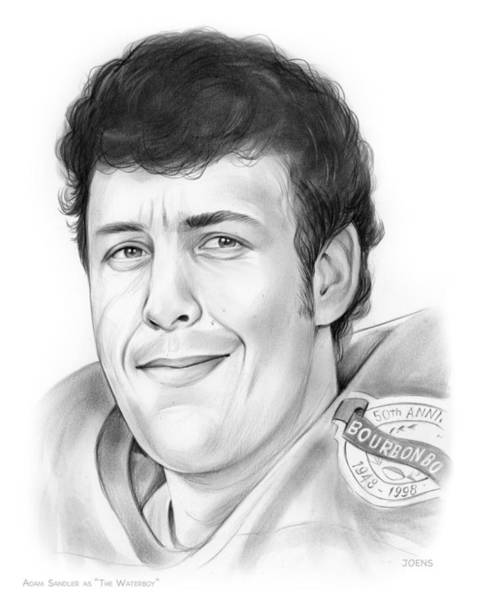 Comedy Wall Art - Drawing - Waterboy by Greg Joens