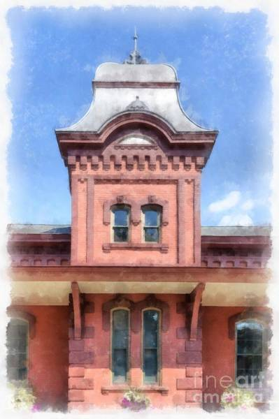 Trains Painting - Waterbury Vermont Train Station by Edward Fielding