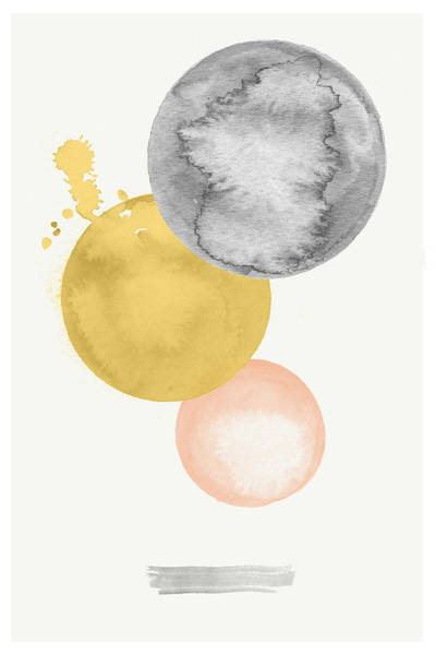 Moon Digital Art - Watercolor Abstract #4 by Nordic Print Studio