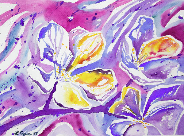 Painting - Watercolor - Abstract Flowers by Cascade Colors
