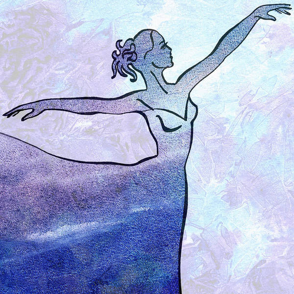 Girly Painting - Watercolor Ballerina Silhouette By Irina Sztukowski  by Irina Sztukowski