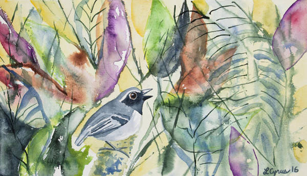 Painting - Watercolor - Black-faced Antbird by Cascade Colors