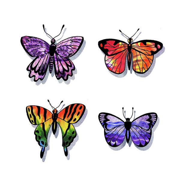 Painting - Watercolor Butterflies Collection Iv by Irina Sztukowski