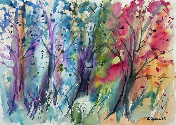Painting - Watercolor - Changing Of The Seasons by Cascade Colors