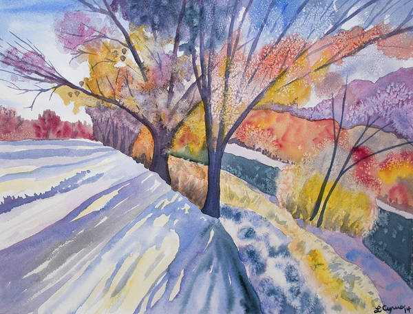 Painting - Watercolor - Changing Seasons Landscape by Cascade Colors