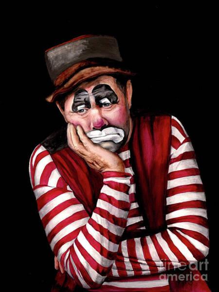 Painting - Watercolor Clown #28 Jim Howle by Patty Vicknair