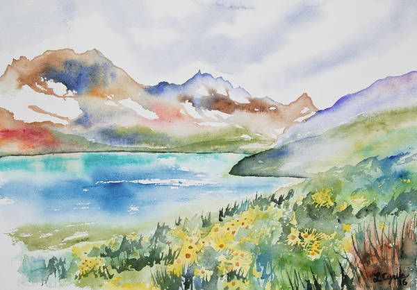 Painting - Watercolor - Colorado Alpine Landscape by Cascade Colors