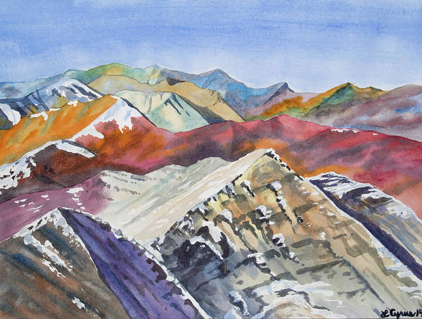 Painting - Watercolor - Colorado Elk Range View by Cascade Colors