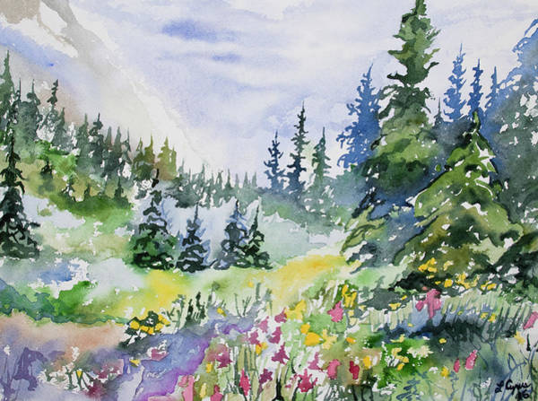 Painting - Watercolor - Colorado Summer Scene by Cascade Colors