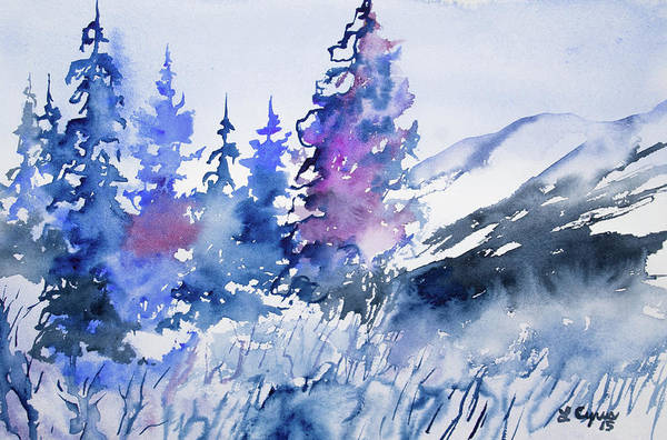 Painting - Watercolor - Colorado Winter Wonderland by Cascade Colors