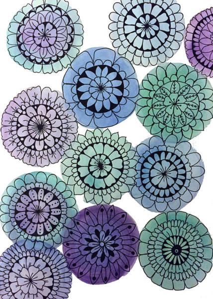Wall Art - Painting - Watercolor Floral Mandalas by Elizabeth Davis