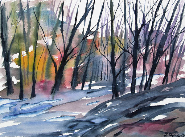 Painting - Watercolor - Forest In Transition by Cascade Colors