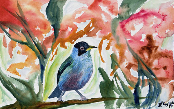 Painting - Watercolor - Green Honeycreeper by Cascade Colors