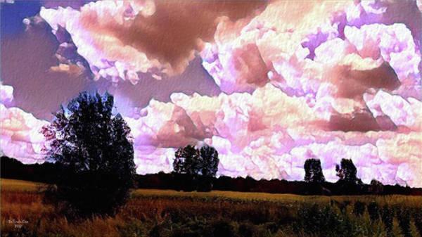 Digital Art - Watercolor Hadley Michigan Summer 2017 by Artful Oasis