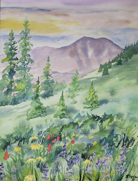 Painting - Watercolor - Hike To The Blue Lakes by Cascade Colors