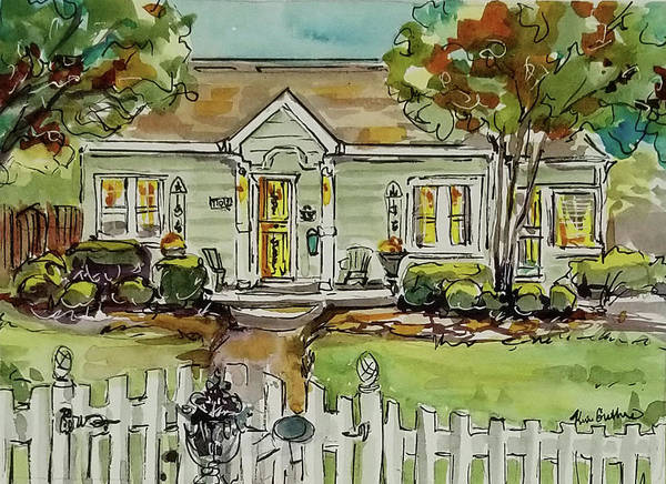 Wall Art - Painting - Watercolor House Painting by Kim Guthrie