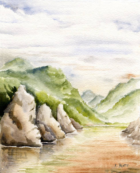 Watercolor Landscape Plein Air Art Print