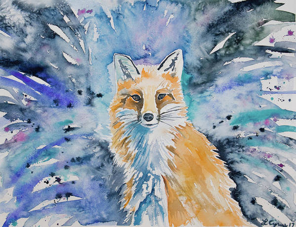 Painting - Watercolor - Mr. Red Fox by Cascade Colors
