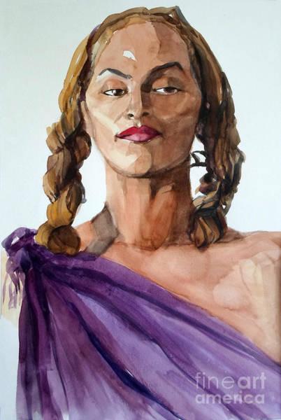 Portrait In Watercolor Of A Brooklyn Queen Art Print