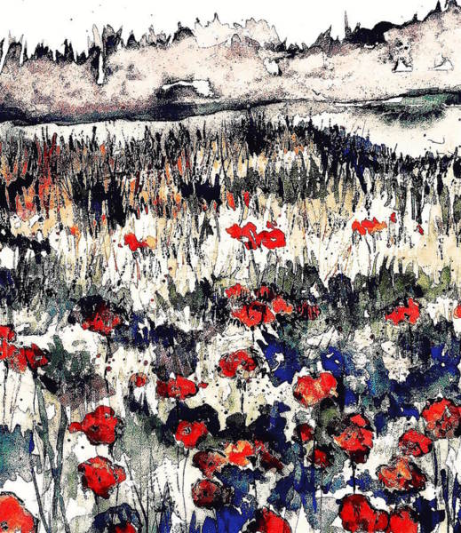 Wall Art - Painting - Watercolor Poppies 2 by Julia S Powell