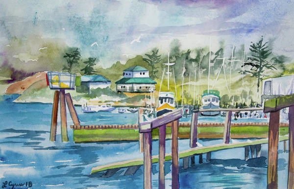 Painting - Watercolor - Quileute Harbor by Cascade Colors