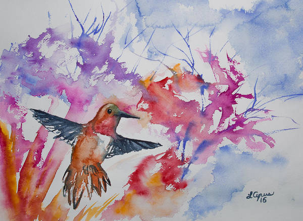 Painting - Watercolor - Rufous Hummingbird by Cascade Colors