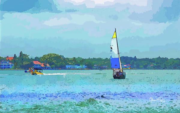 Photograph - Watercolor Sailing by Susan Molnar
